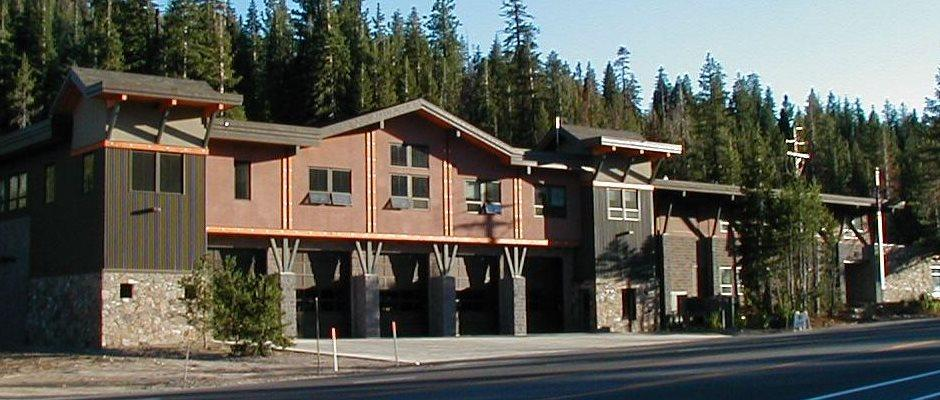 Administrative building and firehouse at squaw